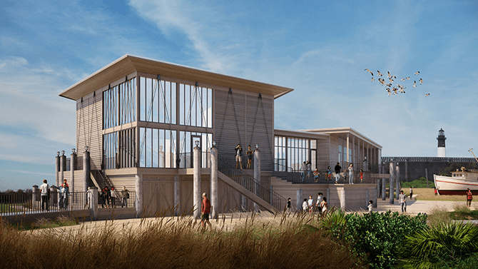 New Tybee Island Marine Science Center Rendering